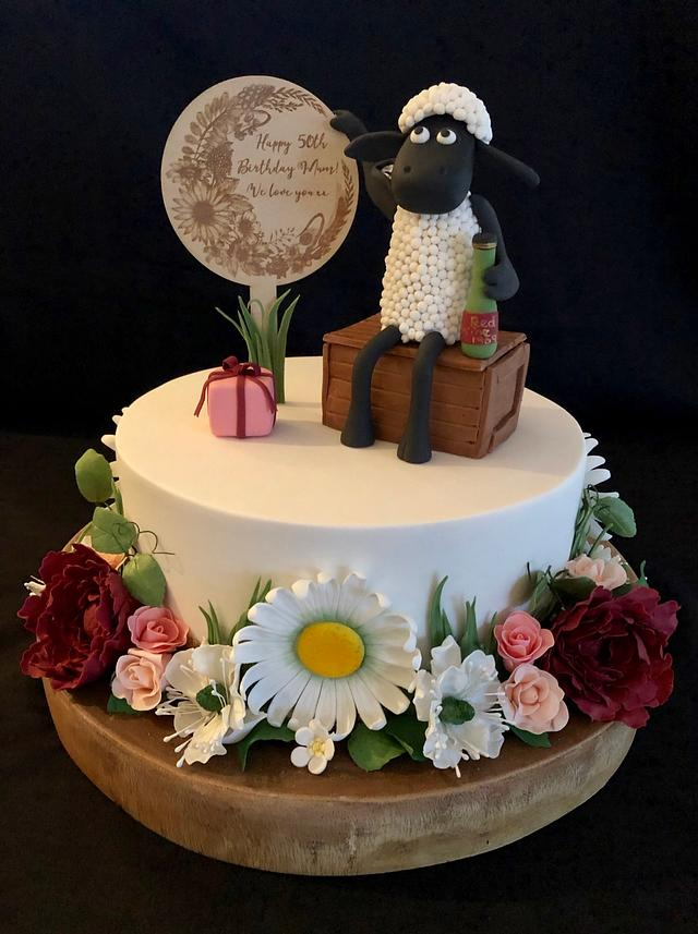 Cool Shaun The Sheep 50Th Birthday Cake Cake By Julie Anne Cakesdecor Funny Birthday Cards Online Aeocydamsfinfo