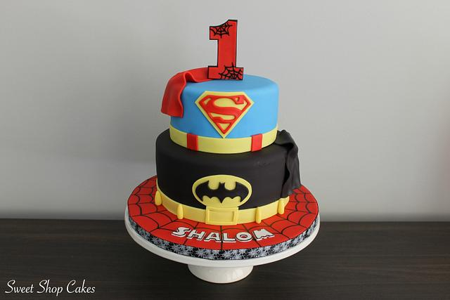 Excellent Superhero Birthday Cake Cake By Sweet Shop Cakes Cakesdecor Birthday Cards Printable Riciscafe Filternl