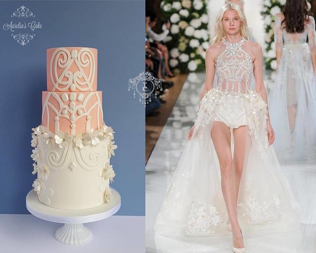 Couture Cakers International - Fashion wedding cake