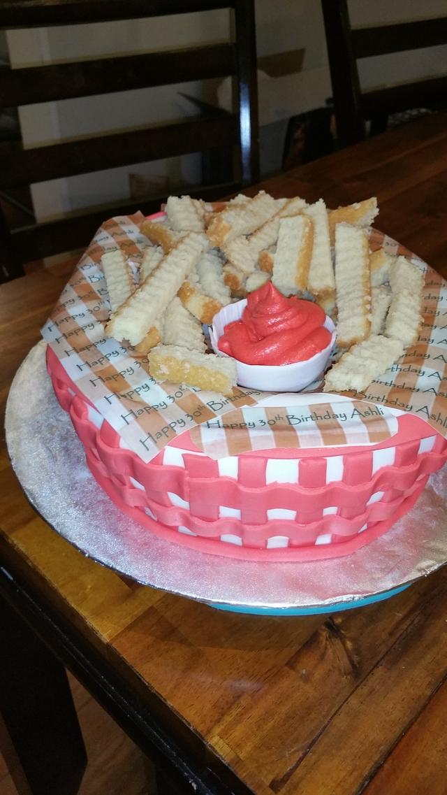 Prime Birthday French Fry Cake Cake By Buttercup46 Cakesdecor Funny Birthday Cards Online Overcheapnameinfo