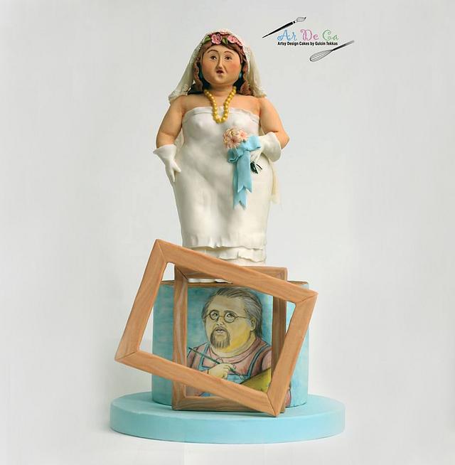 Botero Challenge / Bride and Self Portrait