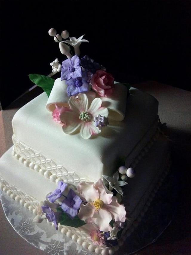 Square Wedding Cake