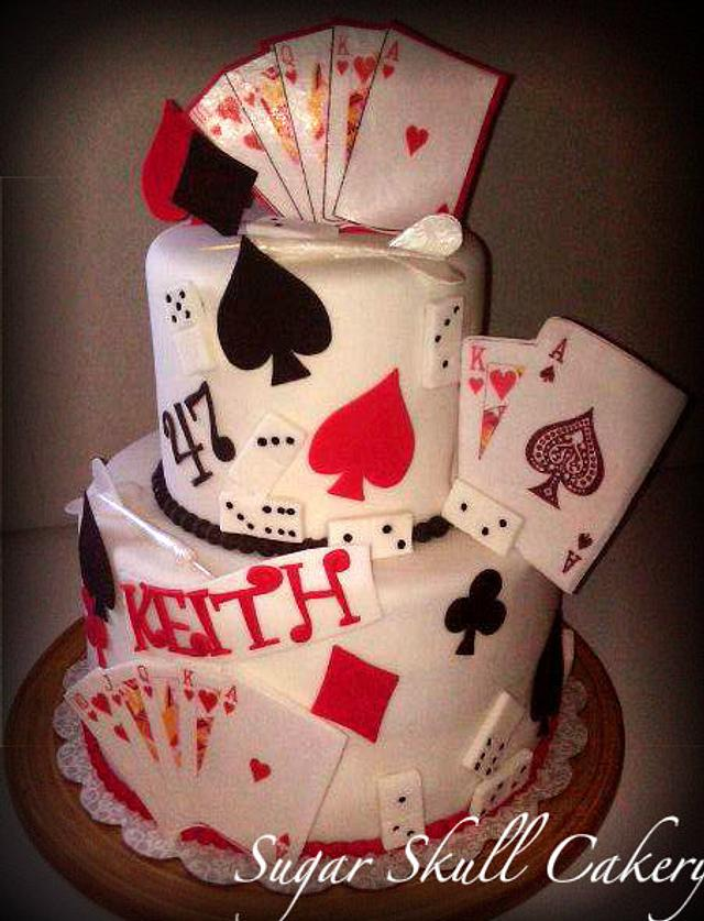 High Roller Themed Birthday Cake