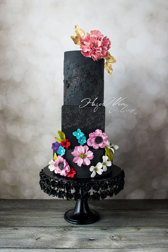 """""""Lady in Black"""" Zuhair Murad Fashion Inspired Cake Collaboration"""