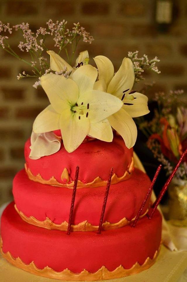 Red princess cake