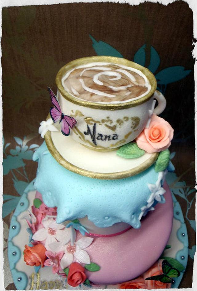 'Nana Loves Tea' Cake