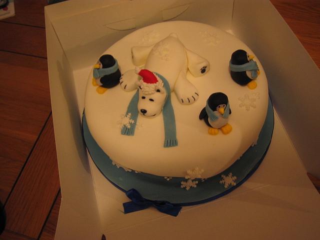 Polar Bear and friends Christmas cake