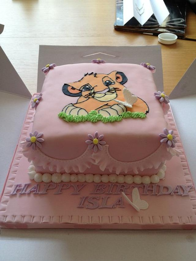 Sensational Lion King Birthday Cake Cake By Sarah Fairhurst Cakesdecor Birthday Cards Printable Opercafe Filternl