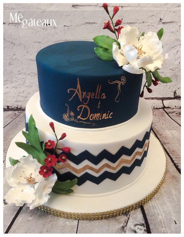 Navy blue and Burgundy wedding
