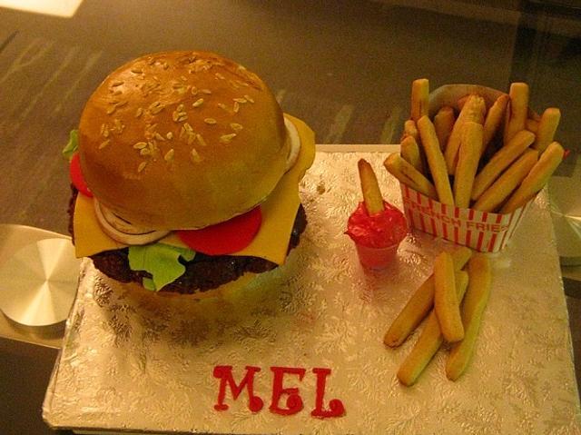 Mel's Cheeseburger Cake