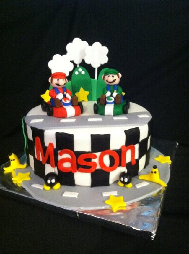 Outstanding Mario Kart Birthday Cake Cake By Christy Mcclure Cakesdecor Personalised Birthday Cards Sponlily Jamesorg