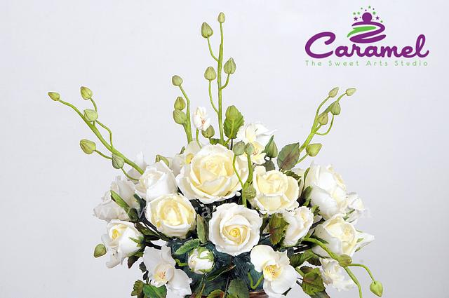 Flower Bouquet - 1st Place in Floral Display at Cakeology, MUMBAI 2016