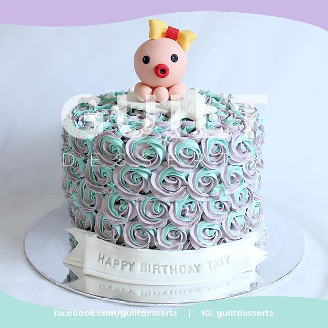 Octo Baby buttercream rosette