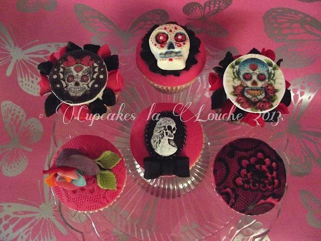 Skull theme cupcakes