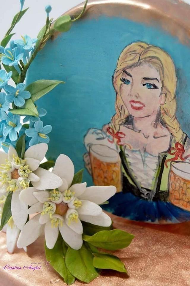 Edelweiss,Blond girls in folklore dress, beer...Shortly: #Oktoberfest