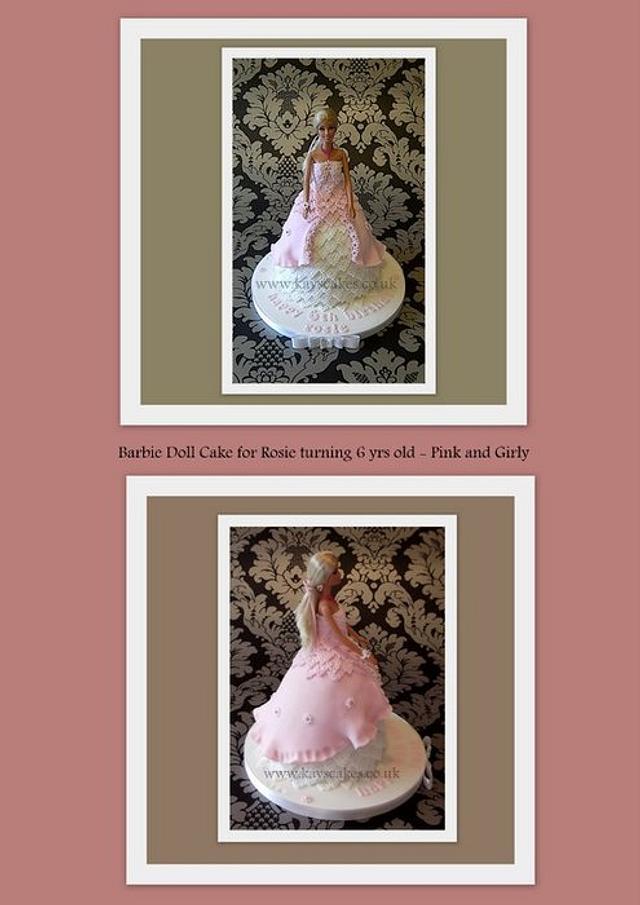 My first Barbie Doll Cake