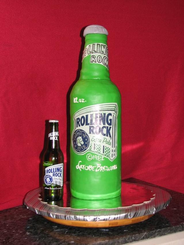 Rolling Rock Beer Bottle cake