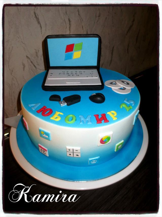 Computer cake