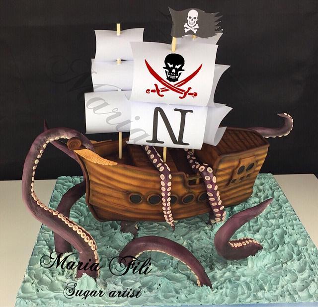 Kraken Birthday Cake
