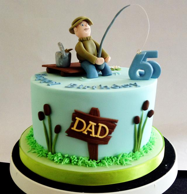 Astonishing Fisherman Cake Cake By Nikkis Cakes Cakesdecor Funny Birthday Cards Online Elaedamsfinfo