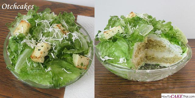 Caesar Salad Cake! (No real lettuce) :)
