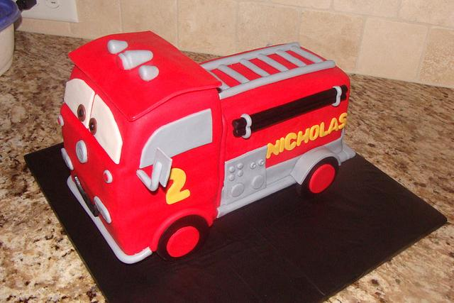 """Red"" firetruck from cars movie"