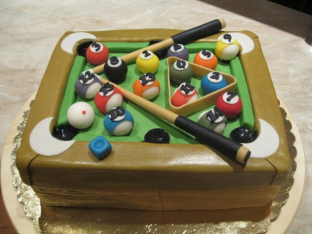 Birthday cake - billiards