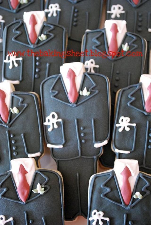 Communion Suit Cookies!