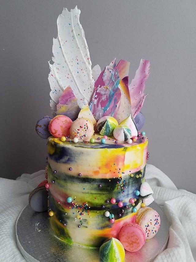 Abstract cake
