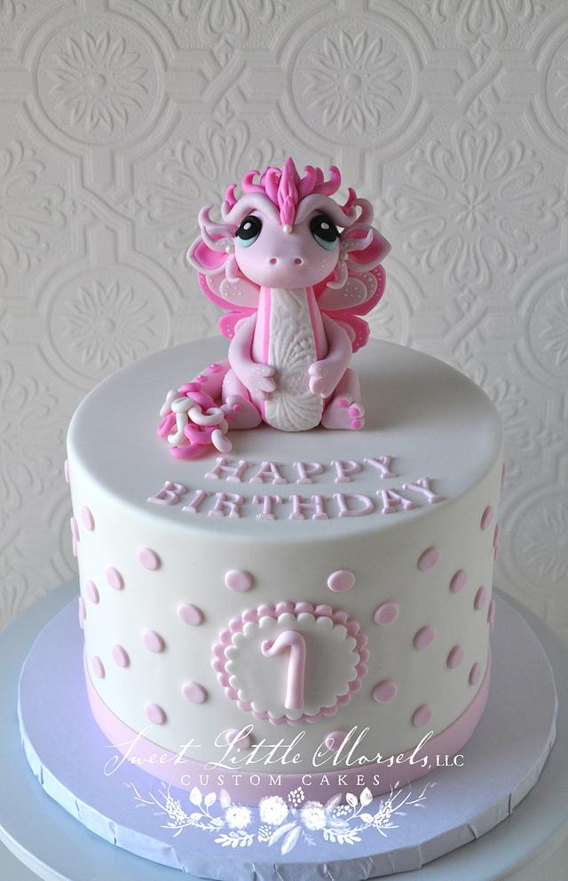 Prime Baby Dragon Birthday Cake Cake By Stephanie Cakesdecor Personalised Birthday Cards Veneteletsinfo