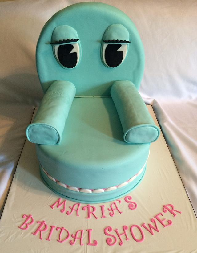 Bridal shower cake: Pee Wee's Chairy cake!!!!!!