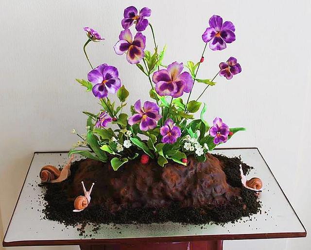 Piece of nature cake