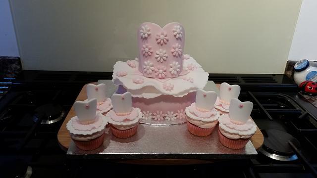 Marvelous Ballet Tutu Birthday Cake Cupcakes Cake By Sugar Chic Cakesdecor Personalised Birthday Cards Akebfashionlily Jamesorg