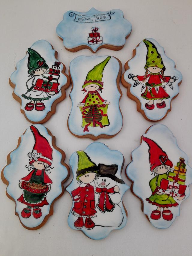 Christmas gingerbread cookiies