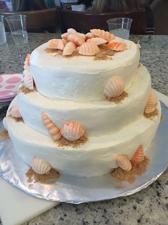 Beach Shell Baby Shower Cake