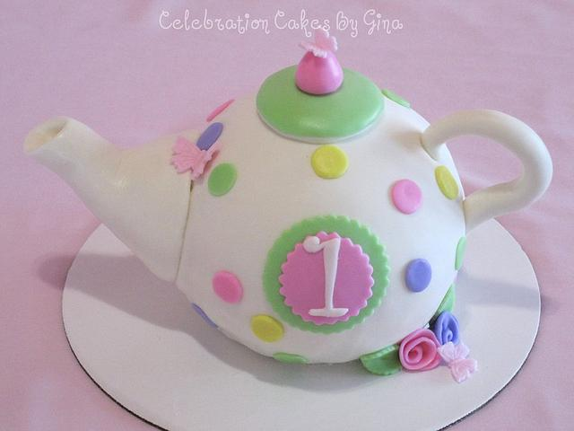 Teapot cake for a 1st b'day tea party