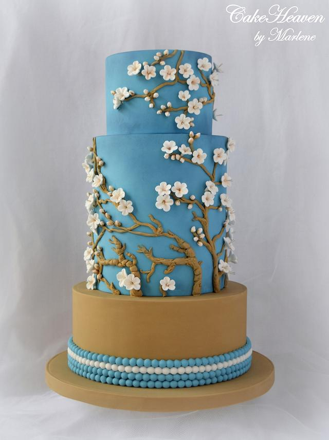 Almond Blossom Cake - Sugar Art Museum Collaboration