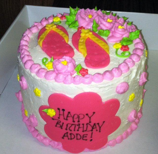 Brilliant Flip Flop Birthday Cake Cake By Kristin Dimacchia Cakesdecor Birthday Cards Printable Inklcafe Filternl