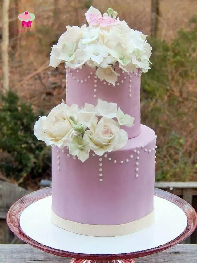 vintage rose bouquet - cake by Rebekah Naomi Cake Design - CakesDecor
