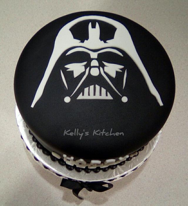Cool Darth Vader Birthday Cake Cake By Kelly Stevens Cakesdecor Birthday Cards Printable Trancafe Filternl