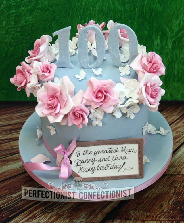 Remarkable Maureen 100Th Birthday Cake Cake By Niamh Geraghty Cakesdecor Birthday Cards Printable Riciscafe Filternl