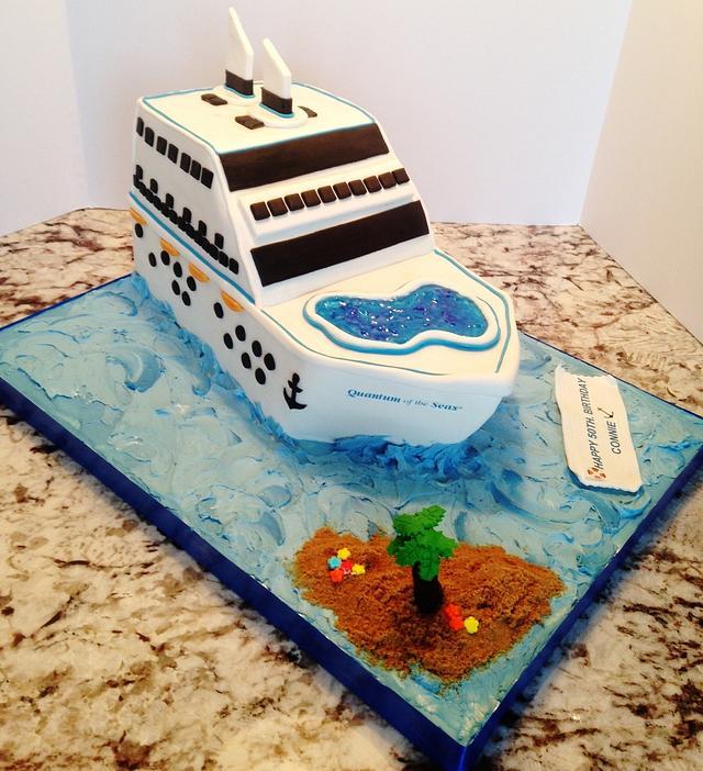 Awesome Cruise Ship 50Th Birthday Cake Cake By Enza Sweet E Cakesdecor Funny Birthday Cards Online Inifofree Goldxyz