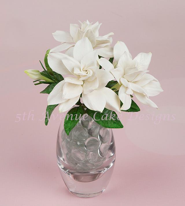 Flower Paste Gardenias the Perfect Flower for a Wedding cake
