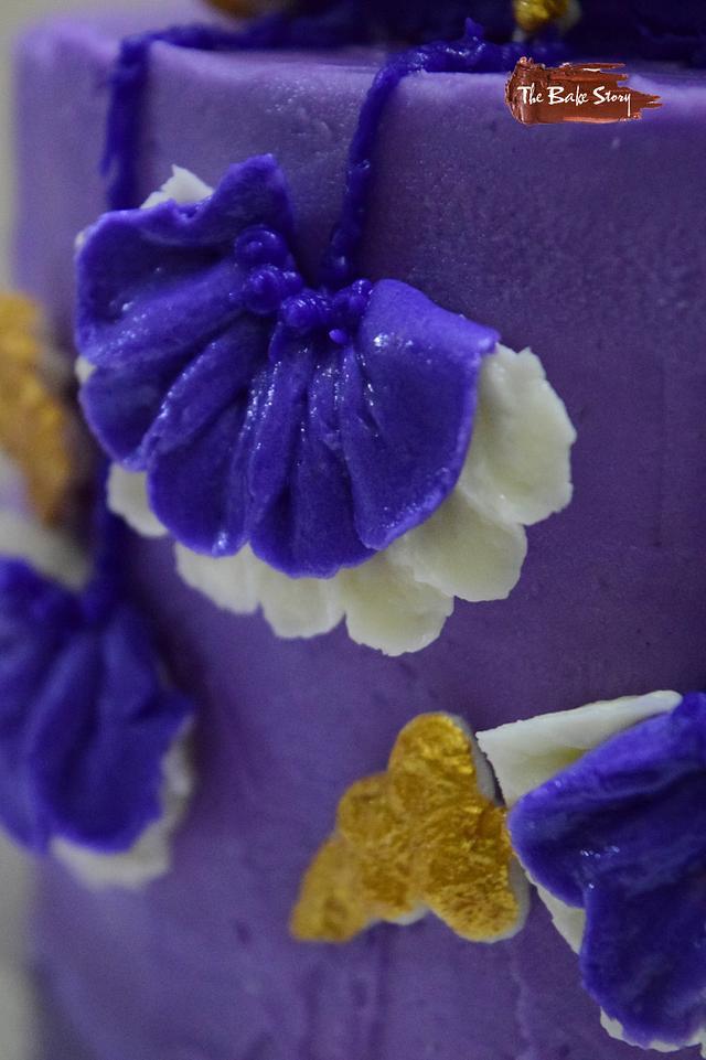 The Purple Wedding- Caker Buddies Collaboration- Buttercream