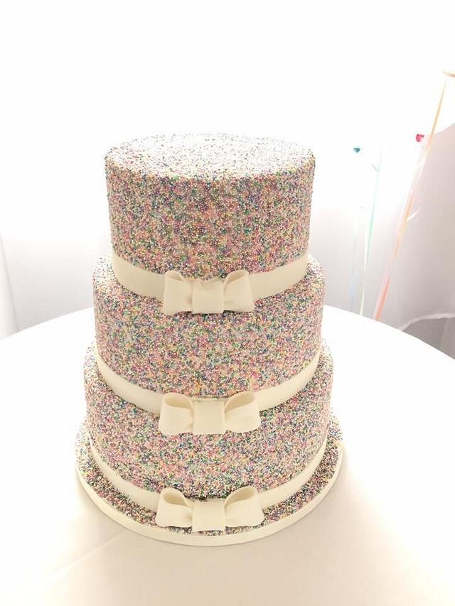 Sprinkles wedding cake