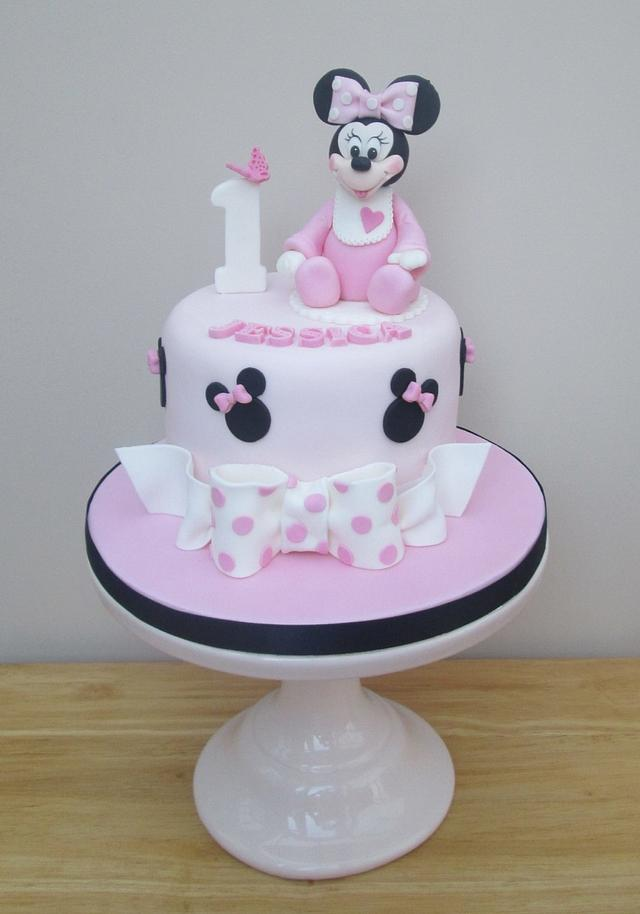 Fabulous Minnie Mouse First Birthday Cake Cake By The Cakesdecor Funny Birthday Cards Online Alyptdamsfinfo