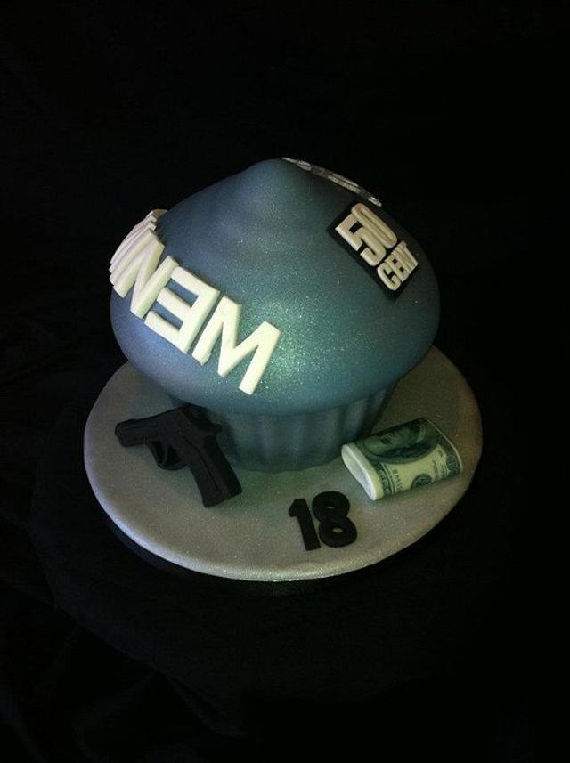 Groovy Eminem 50 Cent Giant Cupcake Cake By Symphony In Sugar Cakesdecor Funny Birthday Cards Online Bapapcheapnameinfo