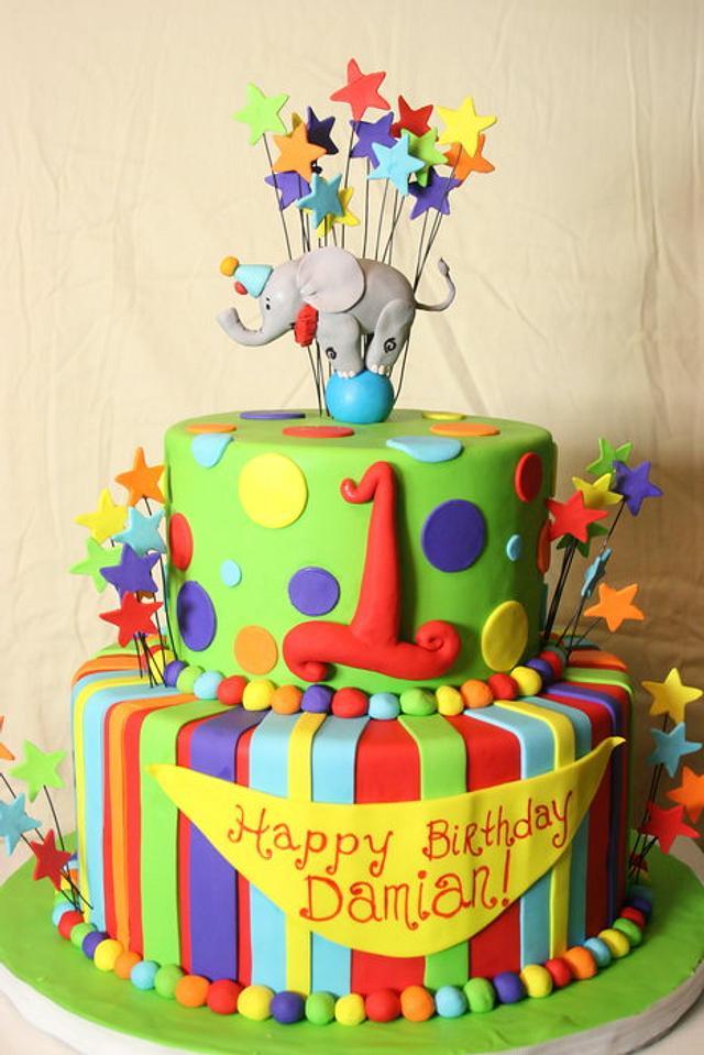 Elephant 1st Birthday