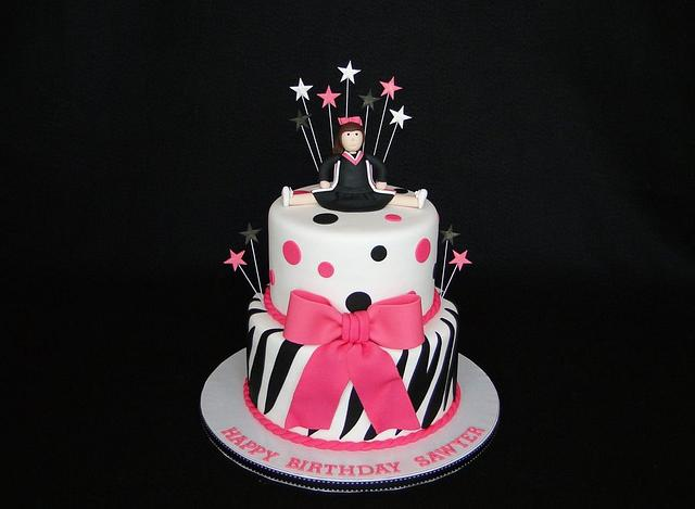 Pleasant Cheerleader Birthday Cake By Elisa Colon Cakesdecor Funny Birthday Cards Online Alyptdamsfinfo