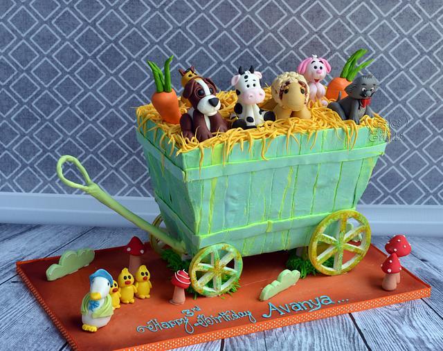 Farm Cart Cake !!!